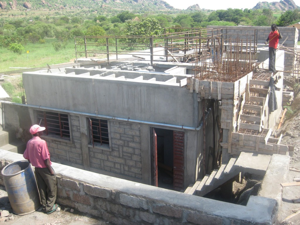 Water purification plant being built.